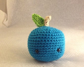 Mini Apple blue crochet