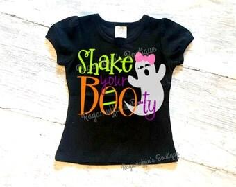 Halloween shirt, Shake your booty shirt, girls halloween shirt, toddler halloween shirt, funny halloween shirt, ghost halloween shirt