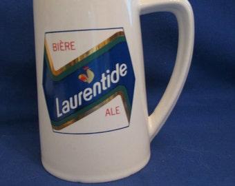 Mug has Laurentide Ale Beer ceramic made in canada 1980/90 COLLECTION, MUG.