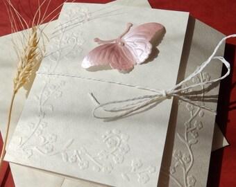 Handmade butterfly wedding invitation/Christening invitation/Unique baby shower invitation/Unique bridal shower invitation
