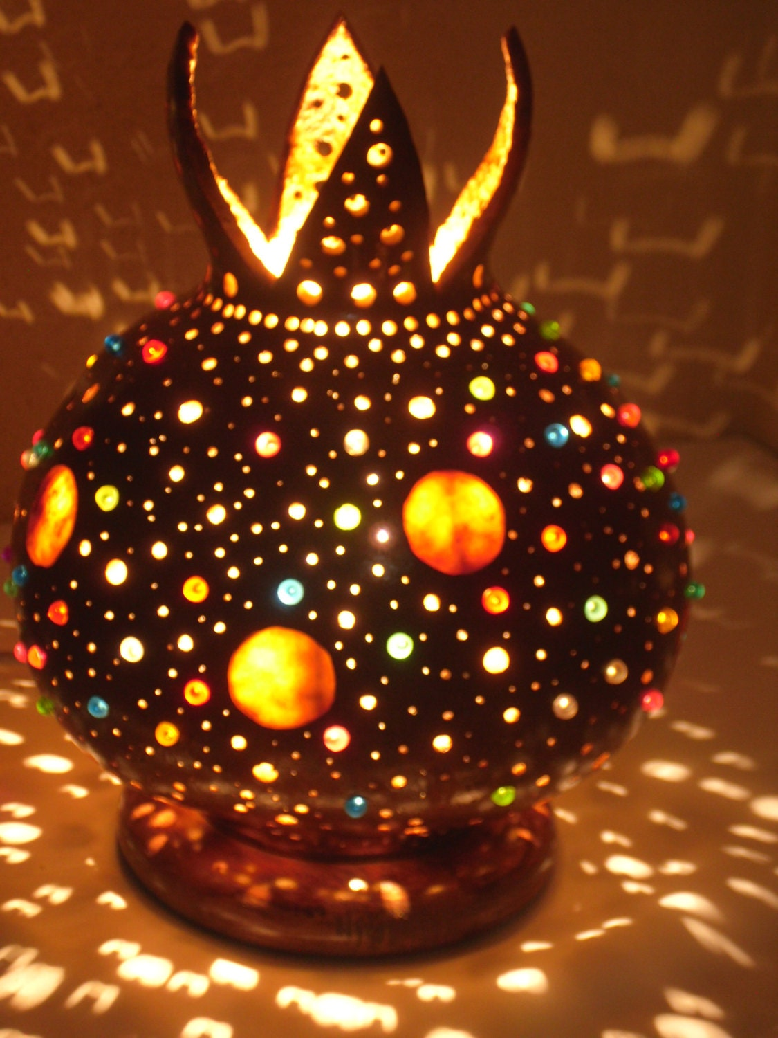 100 Handmade Gifts Under Five Dollars: 100% HANDMADE Gourd Lamp Interiorstrend Design Handcrafted