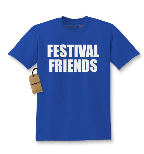 Kids festival friends shirt printed youth burning man t shirt for Ez custom t shirts