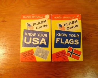 Rand Mcnally Flash Cards Know Your USA and Know Your Flags