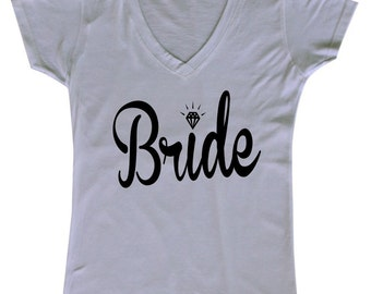 Bride (Black Text) - Ladies' V-neck