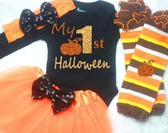My First Halloween, Newborn Halloween Outfit, Baby Shower Gift, Newborn Halloween Outfit, Baby First Halloween,