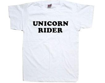 Unicorn T-Shirt - Unicorn Rider Womens Shirt TSHIRT SHIRT  T1117
