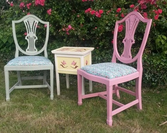 Vintage Upcycled Dining Chairs