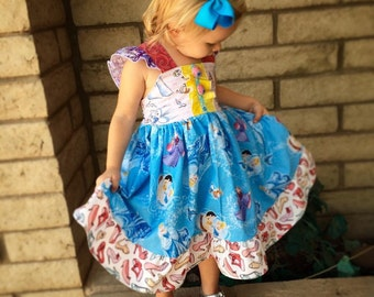 Disney Princess Cinderella Elsie cotton reverse knot flutter dress with adjustable straps.  Ready to ship in time for Christmas