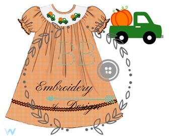 Fall Pumpkin Smock
