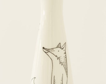 Ceramic Vase - Happy Fox