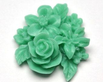 Green Cluster Flower, Pack of 4