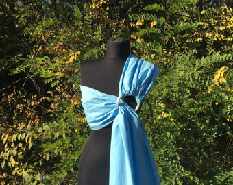 Baby Sling / Baby Ring Sling / Baby Wrap Carrier / FAST SHIPPING - 100% Cotton Blue Gift