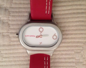 FastTrak Red Youthful Oblong Watch