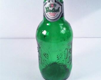 Green Grolsch Lager Bottle made in Holland