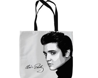 Elvis Presley Design Tote Bag Shopping Bag Beach Bag School Bag
