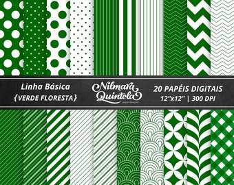Basic Papers Kit - Forest Green