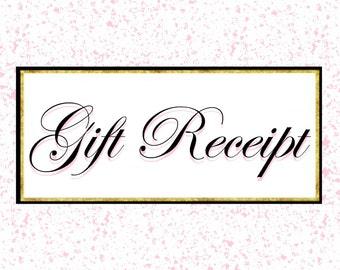 Order Gift Receipt