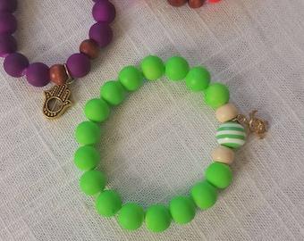 Neon Bead Bracelet - Neon Bracelet