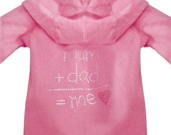 Personalised Mum+Dad=Me Toddler Hoodie
