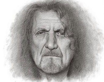 Original Pencil Drawing/Picture of Robert Plant from Led Zeppelin