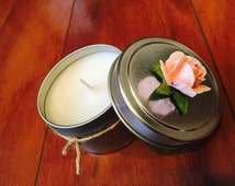 4oz Soy Candle Tin/ Soy candle/Home and Decor/Wedding favor/ Unique gifts- Etsy favorites- Candles