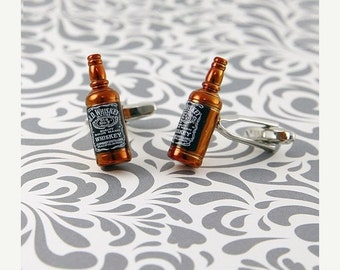 ON SALE JD Whiskey Cufflinks Alcohol Spirit Liquor Drink Jack