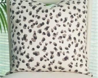 Modern Leopard Animal Print Pillow Cover - black, gray, white