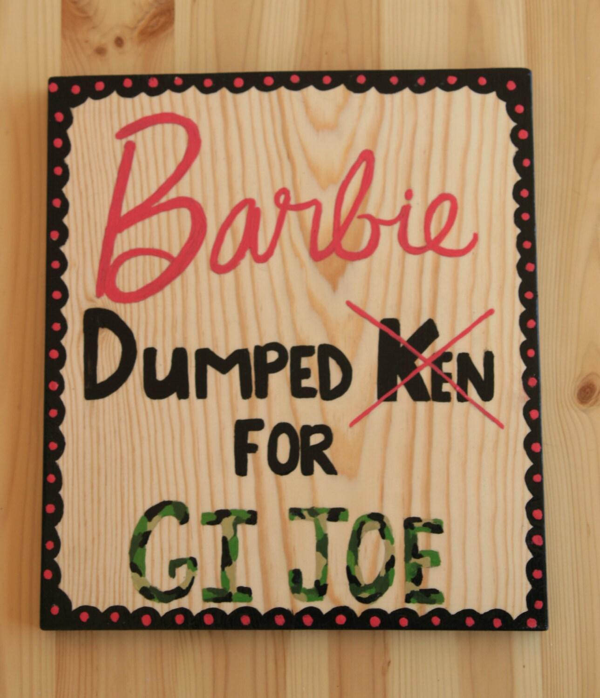 Wood barbie sign little girl room decor barbie girl wall for Signs for little girl rooms