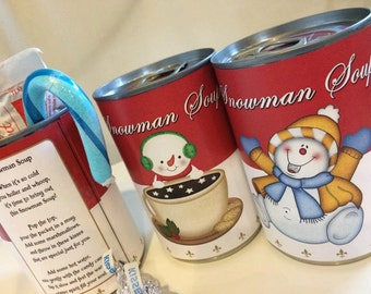 Snowman soup, snowman gifts, DIY kids, snowman party favors, winter party, unique party favors, gift for teacher, DIY gift,
