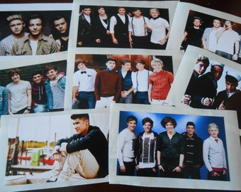 8 Printed One Direction Stickers, Birthday party favors
