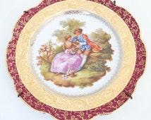 "vintage Limoges Haviland porcelain plate ""Fragonard"", decorative plate, wall decor, decorative Limoges plaque"
