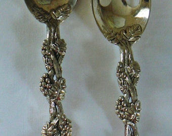 Vintage Silver Plated Serving Utensils, Silver Plated Salad Servers, Silver Plate Serving Spoon and Fork