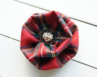 Tartan Brooch /Textile Brooch / Checkboard Textile Pin / CHECK IT