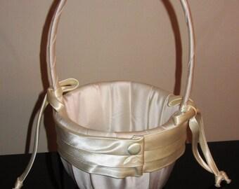 Vintage Flower Girl Basket