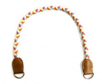 Multicolored bag handles