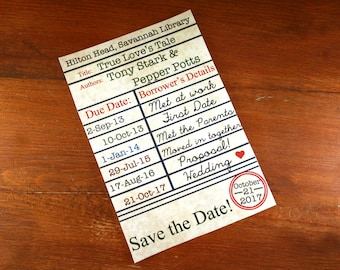 Save the Date Library Card- Digital