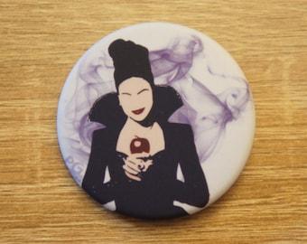 "Badge / Pin ""EVIL QUEEN"" - OUAT / Once Upon A Time - Regina Mills / Evil Queen / Lana Parrilla"