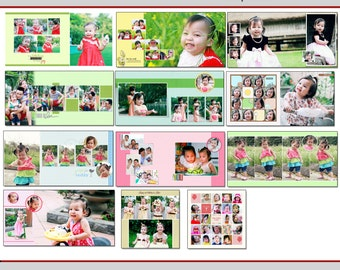 12x12 Happy time Template (travel, photobook, album, wedding, baby, family, template, photoshop)
