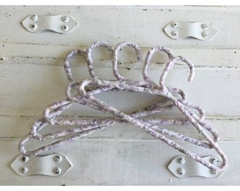 Child Size Shabby Chic Lavender Fabric Wrapped Hangers
