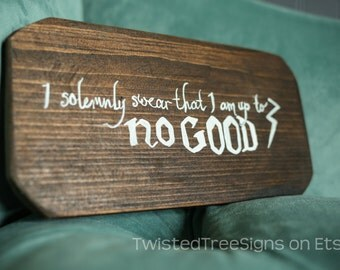 I solemnly swear... {Potter inspired wall art}