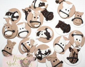 Horse Edible Cupcake Toppers