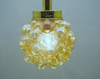 Bubble Glass Chandelier by Helena Tynell for Glashutte Limburg, 1960s