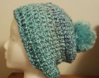 Crochet Slouch hat, crochet hat, matching scarf available, chunky slouch hat, gift for her, warm and soft, Lion Brand Homespun, gift for you