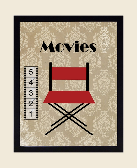 Items Similar To Home Theater Decor Movie Prints Wall