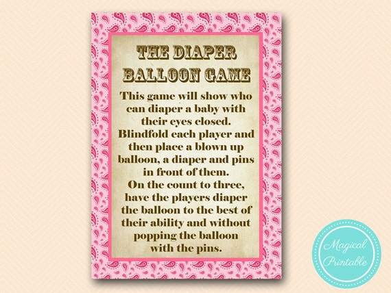 game coed baby shower game girl pink paisley cowgirl baby shower