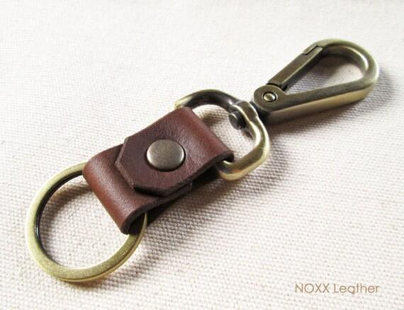 belt leather key fob leather keychain belt clip leather key