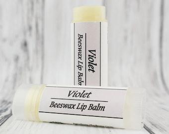Organic Violet • Natural Beeswax • Lip Balm