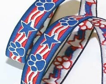 """5/8"""" Paws and Stars Patriotic Collar"""
