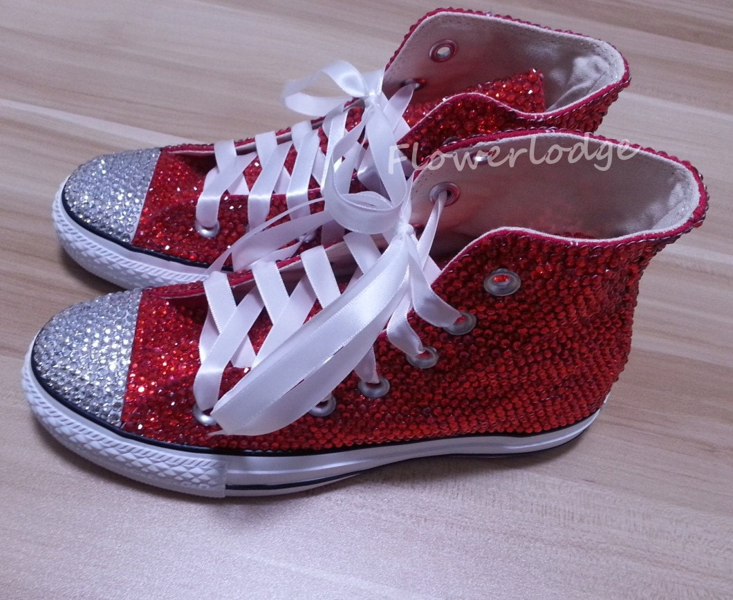 high top converse shoes with rhinestone prom shoes