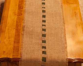 4 Foot Burlap Table Runner